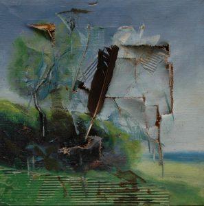 Agrese v plenéru, 2007, olej na plátně, 30x30cm