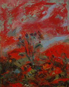 Bodlák, 2007, olej na plátně, 50x40cm