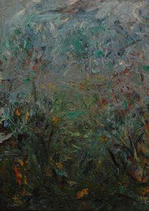Cesta v trávě, 2007, olej na plátně, 70x50cm