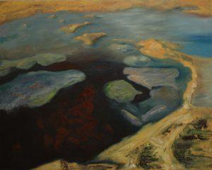 Horské jezírko, 2007, olej na plátně, 80x100cm