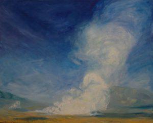 Horský gejzír, 2007, olej na plátně, 80x100cm