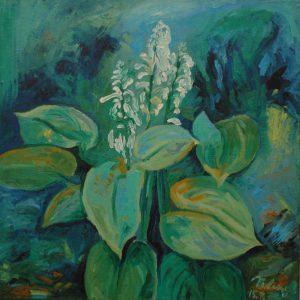 Hosta, 2007, olej na plátně, 70x70cm