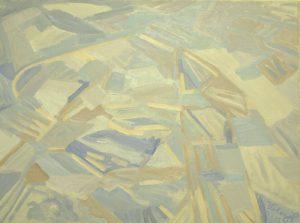 Mongolská pole, 2007, olej na plátně, 60x80cm