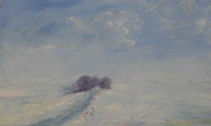 Na procházce, 2007, olej na plátně, 30x50cm