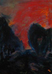 Než zapadlo, 2007, olej na plátně, 70x50cm