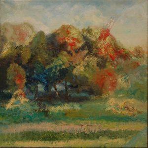 Podzimní odpoledne, 2007, olej na plátně, 50x50cm