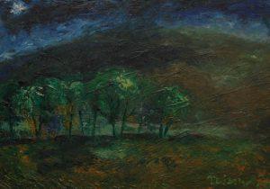 Před bouří, 2007, olej na dřevěné desce, 35x50cm