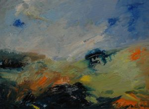 Při západu slunce, 2007, olej na plátně, 30x40cm