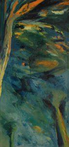 Stromy na ruby, 2007, olej na plátně, 111×52,5cm