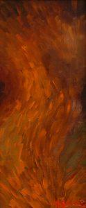 Vlnění, 2007, olej na dřevěné desce, 13x30cm