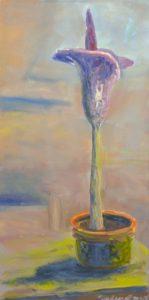 Zmijovec, 2007, olej na plátně, 100×50,5cm