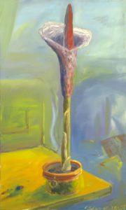 Zmijovec II, 2007, olej na plátně, 100x60cm