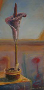 Zmijovec III, 2007, olej na plátně, 100,5x50cm