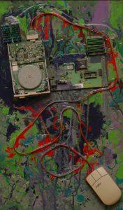 Organismus, 2008, syntetické barvy na dřevěné desce, 59,5x37m