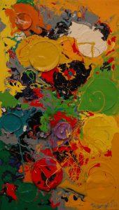 Pocta Zámečku, 2008, syntetické barvy na plátně, 70x40cm