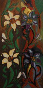 Podoby lilie, 2008, olej na plátně, 60x30cm