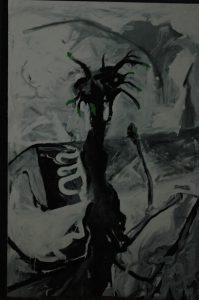 Vrba za domem, 2008, syntetická barva na plátně, cm