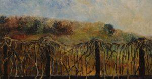 Zakázaný ráj, 2008, olej na dřevěné desce, 34,5x65cm