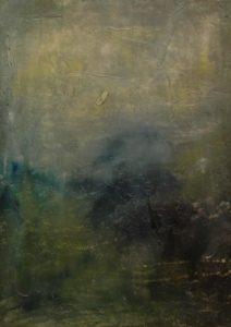 Zamlženo, 2008, olej a silikon na plátně, 70x50cm