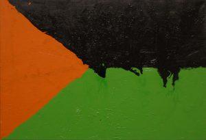 čeSKA vlajka, 2008, syntetické barvy na plátně, 45x65cm