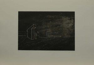 Černá procházka, 2009, 35,5×50,cm, Litografie Náklad 3