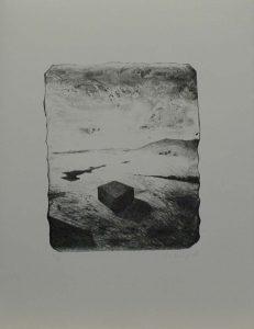 Kvádr v krajině, 2009, 43x33cm, Litografie Náklad 8