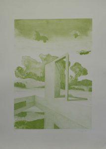 Moderní sloup, 2009, 70x50cm, Litografie Náklad 9