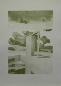 Moderní sloup II, 2009, 70x50cm, Litografie Náklad 4