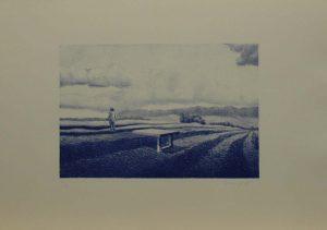 Modrá procházka, 2009, 35,5×50,cm, Litografie Náklad 13