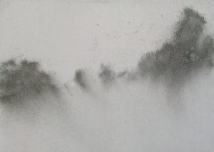 Ráno na poli, 2009, uhel na papíře, 29,7x42cm