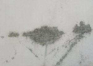 Rozcestí, 2009, uhel na papíře, 29,7x42cm