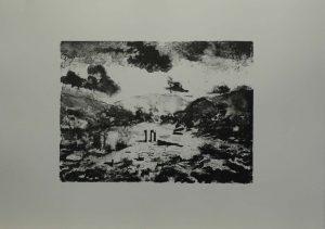 Tři sloupy, 2009, 50x70cm, Litografie Náklad 16