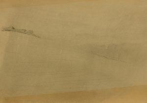 Zamlžené pole II, 2009, uhel na papíře, 29,7x42cm