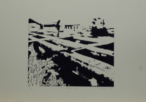 U vápenky, 2010, 35x50cm, Linoryt Náklad 4