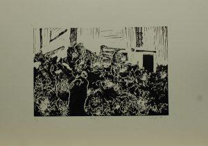 Aňa v křoví, 2010, 35x50cm, Linoryt Náklad 4