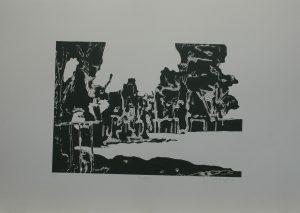 Buchar, 2010, 50x70cm, Linoryt Náklad 3