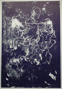 Fialová věc, 2010, 100x70cm, Tisk z výšky ze suché barvy Náklad 7