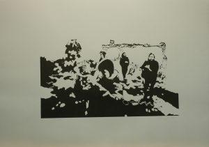 Focení před koksovnou, 2010, 70x100cm, Linoryt Náklad 2