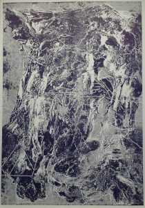 Jízda na kole II, 2010, 100x70cm, Tisk z výšky ze suché barvy Náklad 7