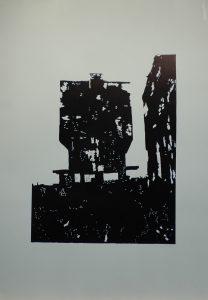 Koksovna II, 2010, 100x70cm, Linoryt Náklad 4