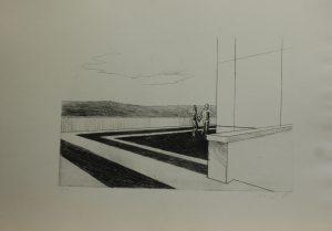 Kolem pomníku, 2010, 35x50cm, Suchá jehla Náklad A.T.
