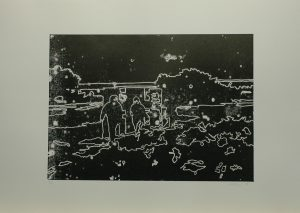 Mulač a Klokočková za koksovnou, 2010, 50x70cmLinoryt Náklad 5