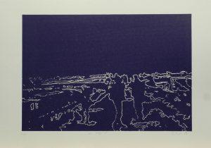 Na mostě, 2010, 35x50cm, Linoryt Náklad 4