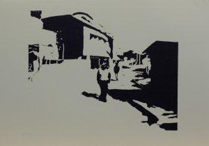 Pochůzkář, 2010, 25×35,5cm, Linoryt Náklad 3