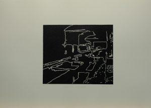 Procházka překladištěm, 2010, 50x70cm, Linoryt Náklad 5