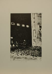 Skladiště, 2010, 50x35cm, Linoryt Náklad 5