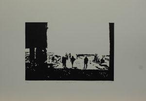 Staré překladiště, 2010, 35x50cm, Linoryt Náklad 4