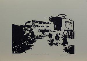Strašidelný dům, 2010, 25×35,5cm, Linoryt Náklad 2