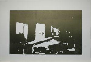 Světlo v koksovně, 2010, 61,5x86cm, Linoryt Náklad 6