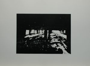 V koksovně III, 2010, 50x70cm, Linoryt Náklad 5